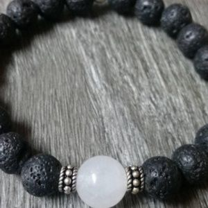 Jewelry - Moonstone and Lava Bracelet